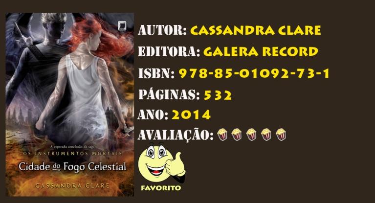 INSTRUMENTOS MORTAIS - VOL 06 CIDADE DO FOGO CELESTIAL