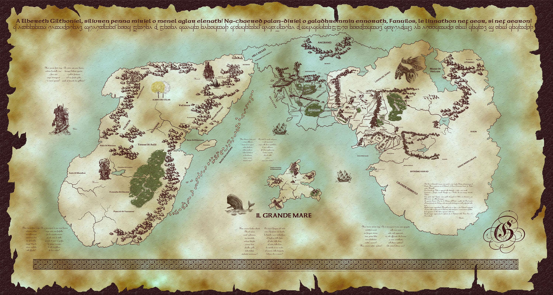 Risultati immagini per complete map of arda