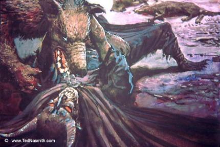 Ted_Nasmith_-_Huan_Subdues_Sauron