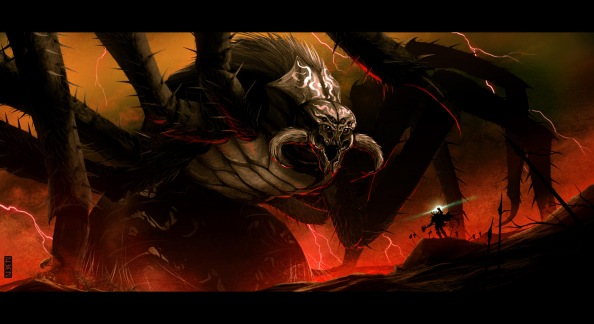 Ungoliant_and_Melkor_by_rubendevela