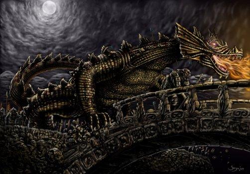 Dragão - Glaurung (invade Nargothrond)